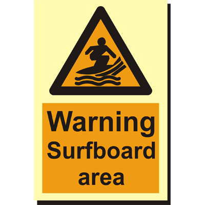 Warning Surfboard