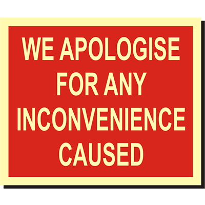 We Apologise